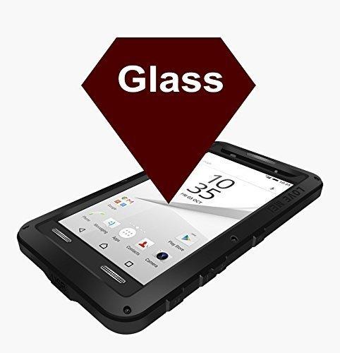 Kompakte Hartschale, beständiges Aluminiummetall, Gorilla Glass, stoßfest, regendicht, wasserdicht, wetterfest, sicher vor Staub/ Schmutz/ Schnee, für Sony Xperia Z5Mini gelb