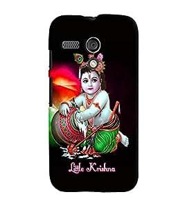 Fuson Premium Li`L Krishna Printed Hard Plastic Back Case Cover for Motorola Moto G