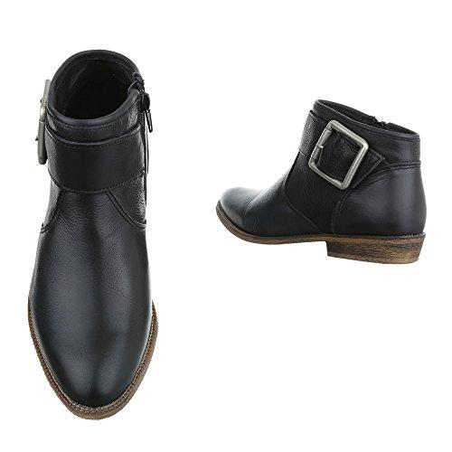 Chelsea Boots In Pelle Scarpe Da Donna Chelsea Boots Tacco A Spillo Fibbie Deco Zipper Ital Design Stivaletti Neri