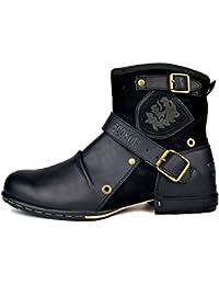 7b86d527c64 Moto Botte Hommes Rivet Boot Martin Bottes Vintage Cheville Hiver Boot  Casual Cowboy Chaussures OZ-