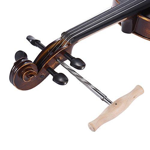 0.75-unzen-paket (Kalaok Spiral Violine Peg Loch Reibahle 01.30 Taper High-Speed-Stahl mit Holzgriff für 3/4 4/4 Violinen Luthier Werkzeug)