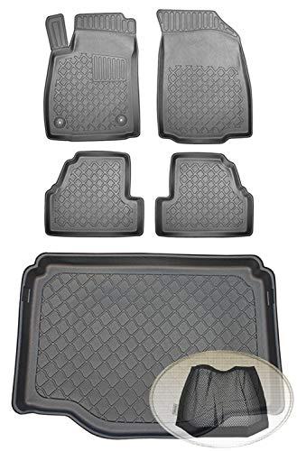 ZentimeX Z393052 Set Kofferraumwanne Gummifußmatten + Klettnetztasche (Laderaumwanne, Kofferraummatte, Automatten)