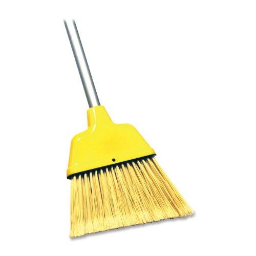 Genuine Joe GJO58562 Angle Broom- High Performance Bristles- 9in. W- Yellow Test