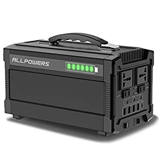 ALLPOWERS 288Wh/78000mAh Portable Solar Generator Power Inverter Power Station Camping Emergency Power Supply with Silent DC/AC Inverter, Charged by Solar Panel/ Wall Outlet for Camping, Home, CPAP or Emergency Backup