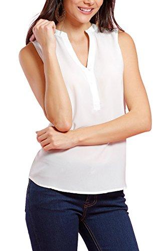 INFINIE PASSION - Dentelle - Blouse fluide blanche Blanc
