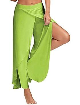 Targogo Falda Pantalon Mujer Elegantes Pantalones Verano Chiffon Pantalones Palazzo Pantalones Yoga Mujer Color...