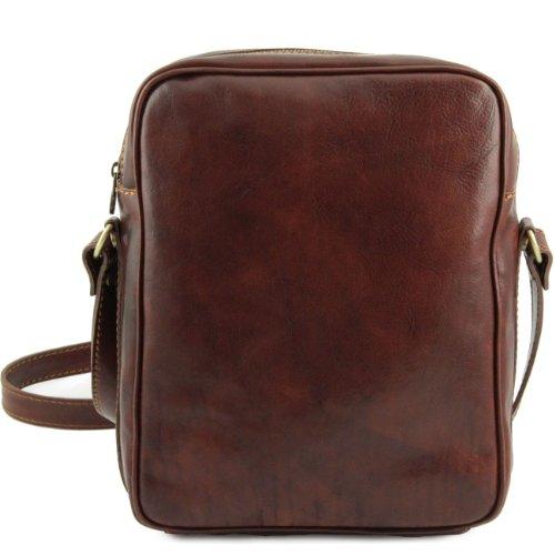 Tuscany Leather Oscar - Esclusivo Borsello in pelle a tracolla Marrone Borse uomo in pelle Marrone