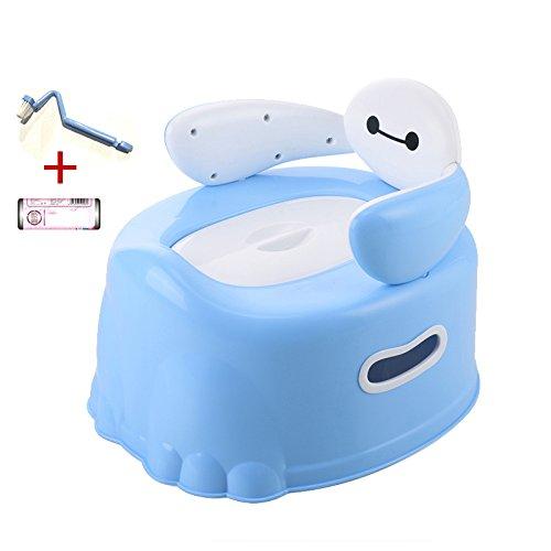DZX Baby Töpfchen Stuhl - Kann Blitzen, Leicht Zu Reinigen, Komfortables Ergonomisches Design,Blue-35*31.5*28.5cm