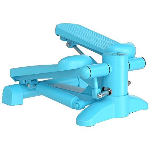 ZXQZ Twist Stepper Stepper, Blau Home Mini Stepper Compact Ellipsentrainer mit Multifunktions-LCD-Display und Massage-Pedale Aerobic Stepper