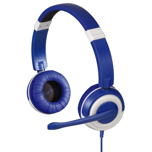 Hama Dispersion Headset (108dB, 3,5mm Klinkenstecker) blau Circumaural Gaming-headset
