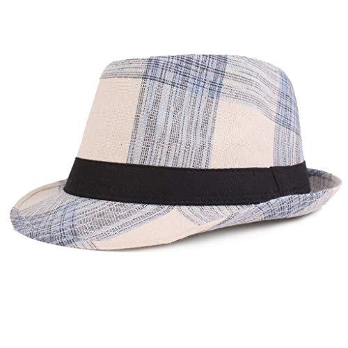 Dasongff Trilbyhut Herren Modisch Elegante Vintage Cap (Herren New York Yankees Kostüme)