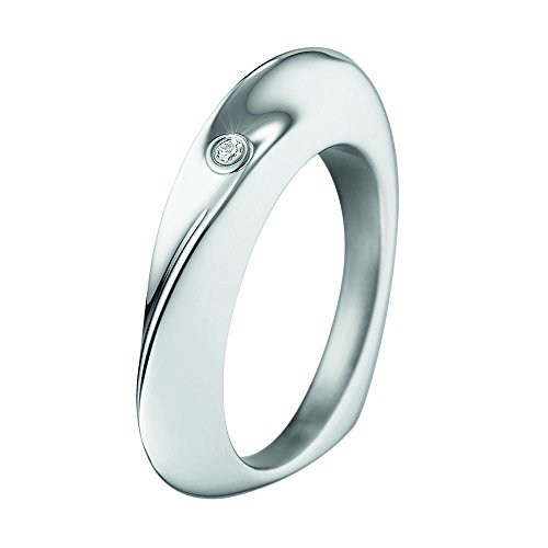 XEN Ring herzförmig poliert mit Brillant 0,02 ct. 58 (18.5)