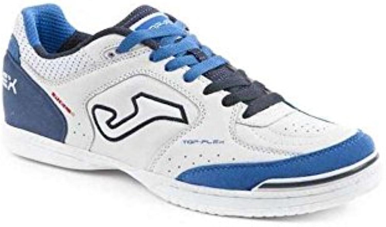 Joma TOP FLEX 716 Indoor - Scarpe Calcetto Uomo - Men's Futsal scarpe - TOPW.716.IN (43.5, bianco-navy) | Consegna ragionevole e consegna puntuale  | Gentiluomo/Signora Scarpa