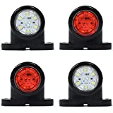 4 x 12 V bianco LED rosso posteriore luci laterali SUV, camion, rimorchi, bus, caravan Bus Van