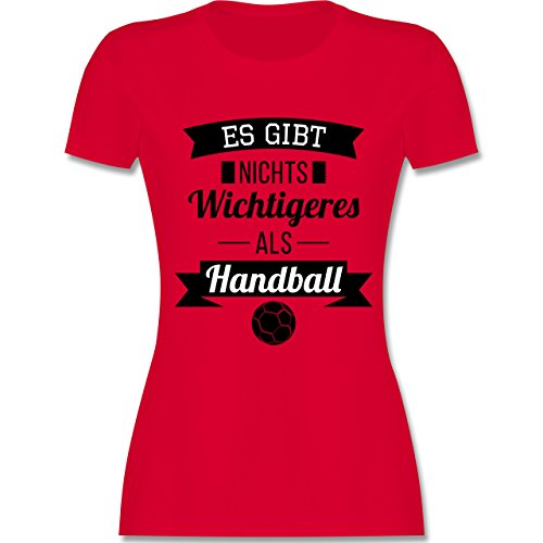 Shirtracer Handball - ES Gibt Nichts Wichtigeres Als Handball - Damen T-Shirt Rundhals Rot