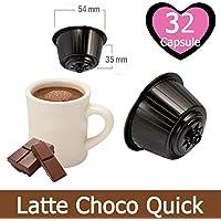KICKKICK® 32 Cápsulas Choco Quick Soluble Compatibles Nescafé Dolce Gusto - Bebida con ...