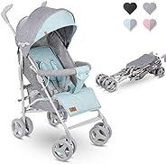 Lionelo Irma barnvagn hopfällbar buggy med ryggstödsjustering 6-tums hjul (mynta)