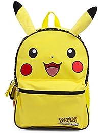 "Nintendo Pokemon Happy Pikachu 16"" Inch Yellow Backpack School Bag By Fab Starpoint"