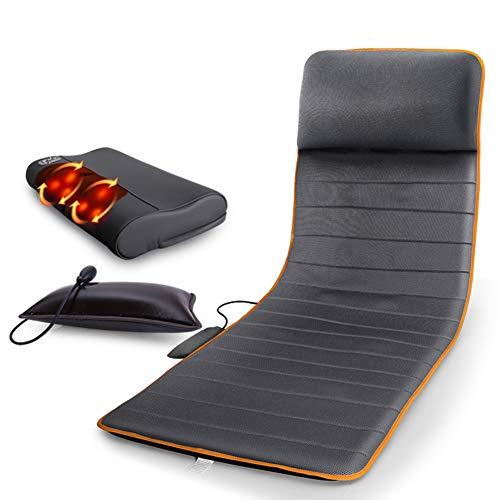 Massagematratze - Multifunktions-Körperheizmassagekissen mit Massagekissen, Thermalmassagegerät, faltbar, schwarz, 174cm * 58cm (Wissenschaftliche übersetzung)