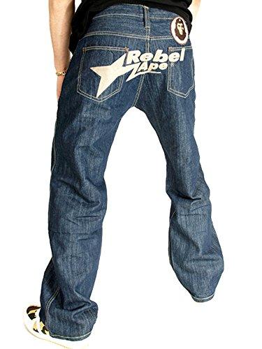 Rebel Ape Herren Jeanshose Blue Dark Wash