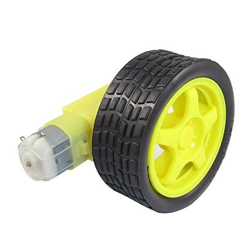plastic-tire-wheel-toogoor-yellow-black-tire-wheel-single-shaft-geared-motor-15rpm-160ma-3v-dc