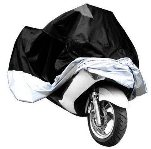 cubierta-de-la-motocicleta-plateado-xxl