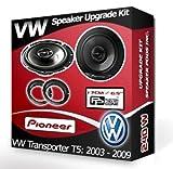 Pioneer Haut-parleurs avec anneaux adaptateurs pour portières avant de Volkswagen Transporter T5 - 240 W