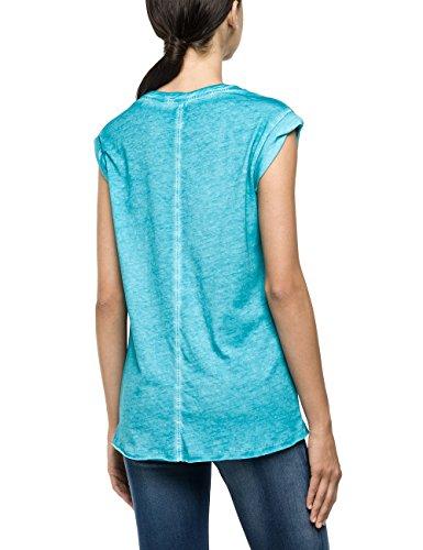 Replay Damen T-Shirt W3727i.000.22162f Blau (BLUE 488)