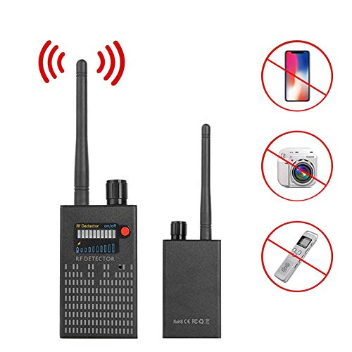 QLPP Hidden Camera Detector, Bug Detector [Anti-Spion] [Ultrahoch] RF-Signal, Radiofrequenz, Bug Sweaper Scanner-Erkennungsgerät GPS-Detektor Anti-Spion-Kamera Finder -