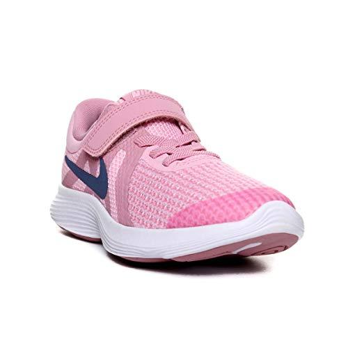 Nike Mädchen Kleinkinder Revolution 4 (PS) Laufschuhe, Mehrfarbig Diffused Blue/Elemental Pink/White 602, 30 EU