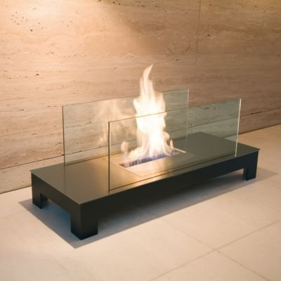 Floor Flame Ethanol Feuerstelle Edelstahl