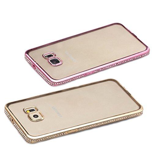 Apple iPhone SE / 5S / 5 | iCues Aurora Chrome TPU Strass boîtier en or | Protecteur feuille transparente Temps clair silicone Gel strass Glitter Glitter luxe Bling dames femmes filles cas Chrome peau argenté