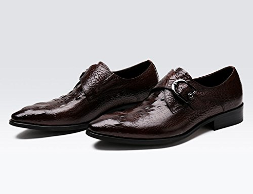 Chaussures En Cuir Des Hommes Des Hommes En Cuir Bout Pointu De Style Britannique Pour Les Chaussures Formelles Des Hommes (couleur: Noir, Taille: Eu38 / Uk5.5) Couleur Café