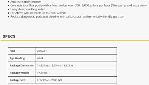 Intex CG-28668 Krystal Clear Saltwasser System für Aufstellpools - 4