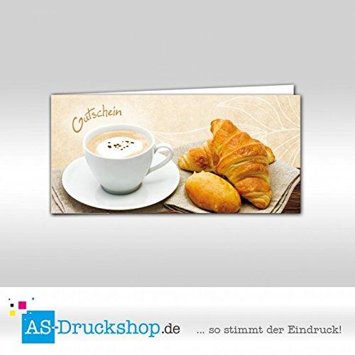 Gutschein Bäckerei Frühstück / 25 Stück / DIN Lang