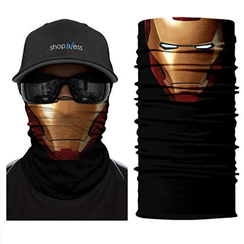 ShopINess Multifunktions Schlauchschal - Ironman