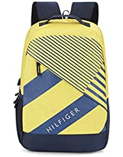 Tommy Hilfiger 22.82 Ltrs Yellow/Navy Laptop Backpack (TH/BIKOL14COL)