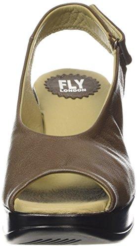 FLY London HATT680FLY, Sandales Compensées femme Gris - Gris