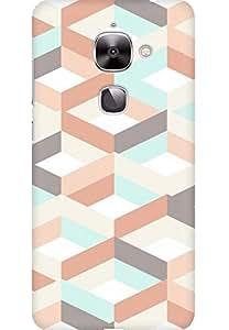 AMEZ designer printed 3d premium high quality back case cover for LeEco Le2 (multicolour square pattern )