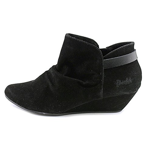 Blowfish Leaf Rund Faux Wildleder Mode-Stiefeletten Black