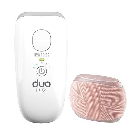 Homedics duo lux dispositivo epilazione a luce pulsata per rimozione peli viso e corpo con doppia tecnologia