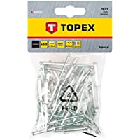 Topex 43E505 Pack de 50 Remaches de Aluminio (4,8 x 18 mm), Set Piezas