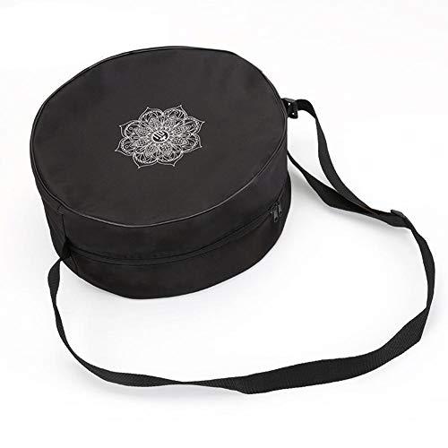 tragbare runde Speicher Fall Tasche Super Mini Aufbewahrungsbox Box Spezielle Aufbewahrungstasche Eine Schulter Fitnesstasche With Dharma Wheel Design Pattern für Yoga,Runden Sie auf,Windrad - Windrad-tasche