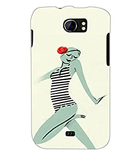 PrintDhaba Crazy Girl D-2884 Back Case Cover for MICROMAX A110 CANVAS 2 (Multi-Coloured)