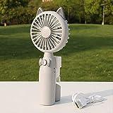 AIMHOME Ventilatore a spruzzo del Fumetto, Ventilatore Esterno da Viaggio per Studenti, Ventilatore Portatile Portatile per Aria condizionata, può spruzzare umidificazione Grigio Gatto