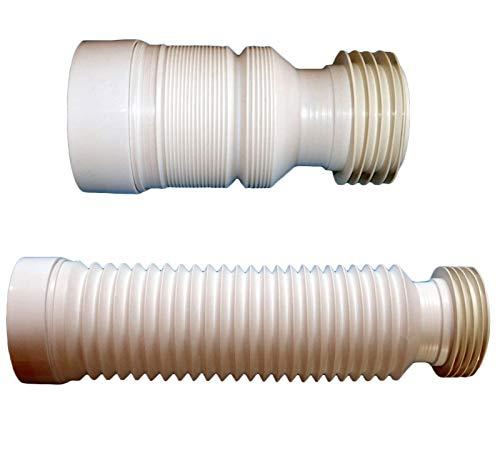 Rail Support-adapter (Home Center Toiletten-Bodenrohr 220-540 mm Flexibler Abfluss-Anschluss für WC-Toiletten-Reparatur. weiß)