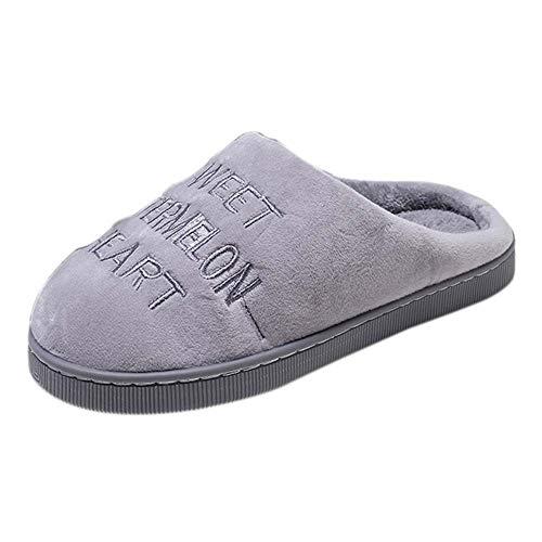 Toasye Ausverkauf. Mode Frauen Cartoon Printed Schuhe Flache Unterseite Slip SAMT Home Hausschuhe