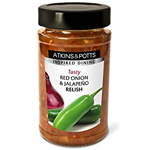 Atkins & Potts - Red Onion and Jalapeño Relish - 250g