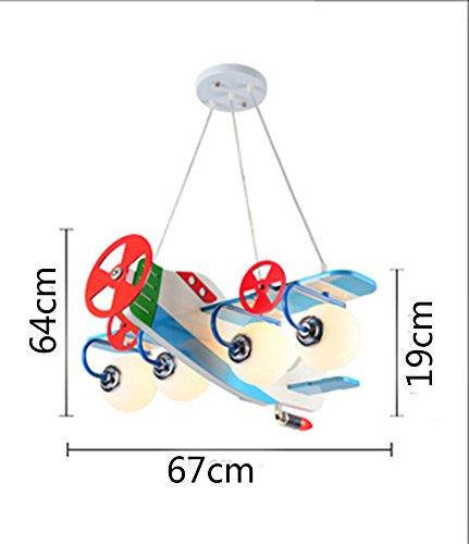 Flugzeug Kronleuchter LED-Lampe kreative Kinderzimmer Jungen und Mädchen Schlafzimmer Raumlampe modernen minimalistischen Karikatur - 5