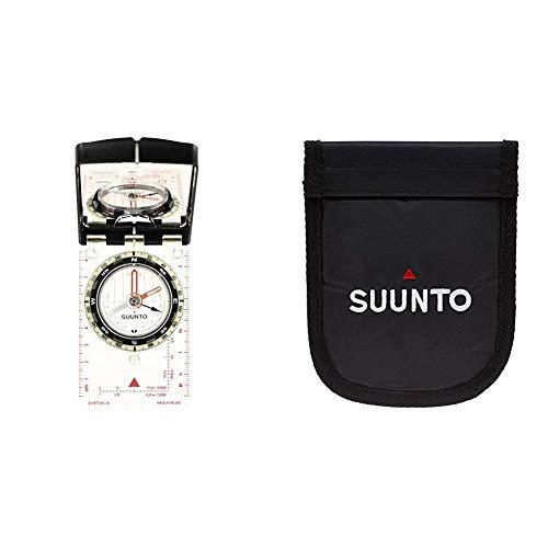 SUUNTO Kompass MC-2 G Mirror Compass, weiß, One Size & Zubehör Tandem Nylon Pouch, schwarz, One Size